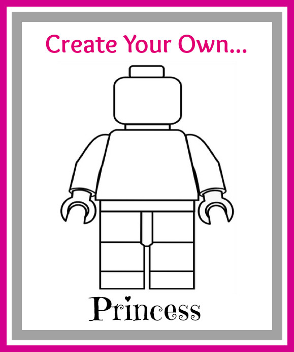 Printable Lego Coloring Sheets For Girls  Create Your Own LEGO Minifigures Printables For Boys