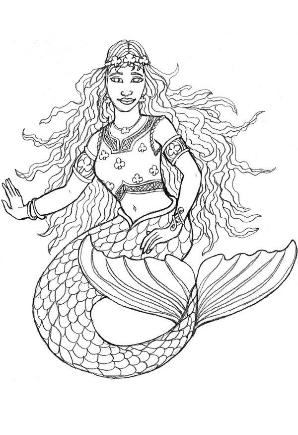 Printable Mermaid Coloring Pages For Girls  Free Printable Mermaid Coloring Pages For Kids