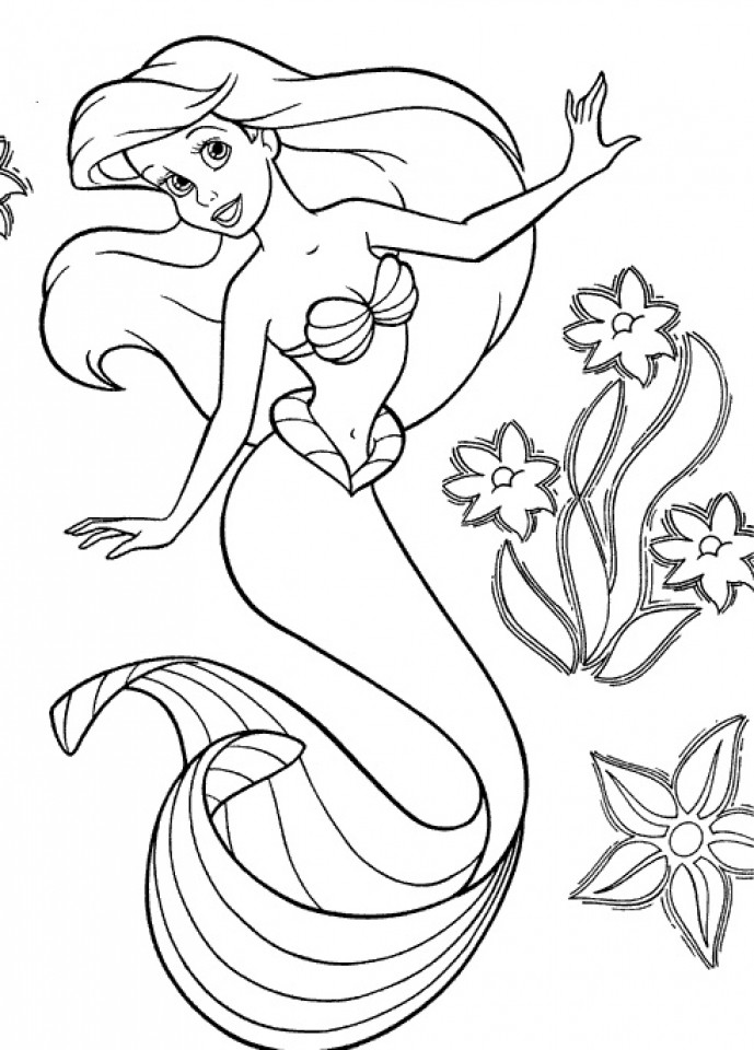 Printable Mermaid Coloring Pages For Girls  Get This Little Mermaid Coloring Pages Princess Printable
