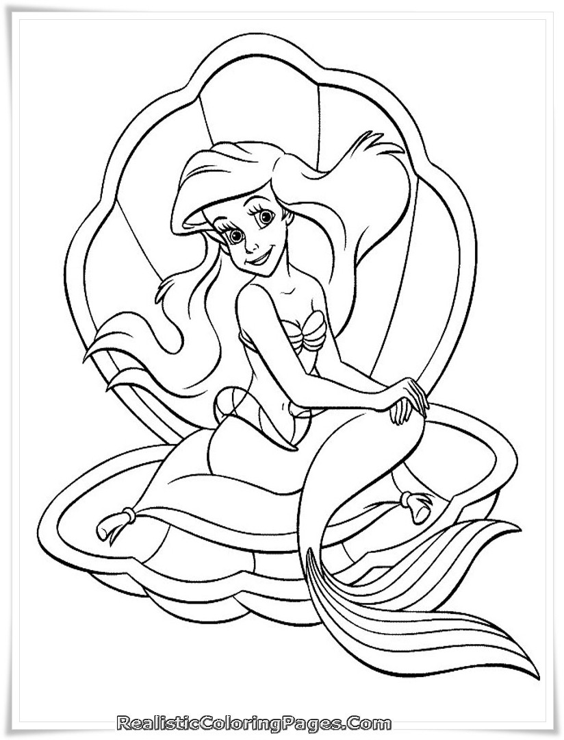 Printable Mermaid Coloring Pages For Girls  Barbie In A Mermaid Tale Printable Girl Coloring Sheet