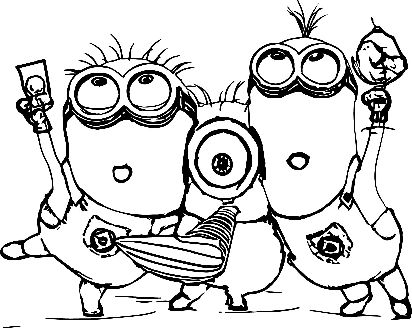 Printable Minions Coloring Pages  Minion Coloring Pages Best Coloring Pages For Kids