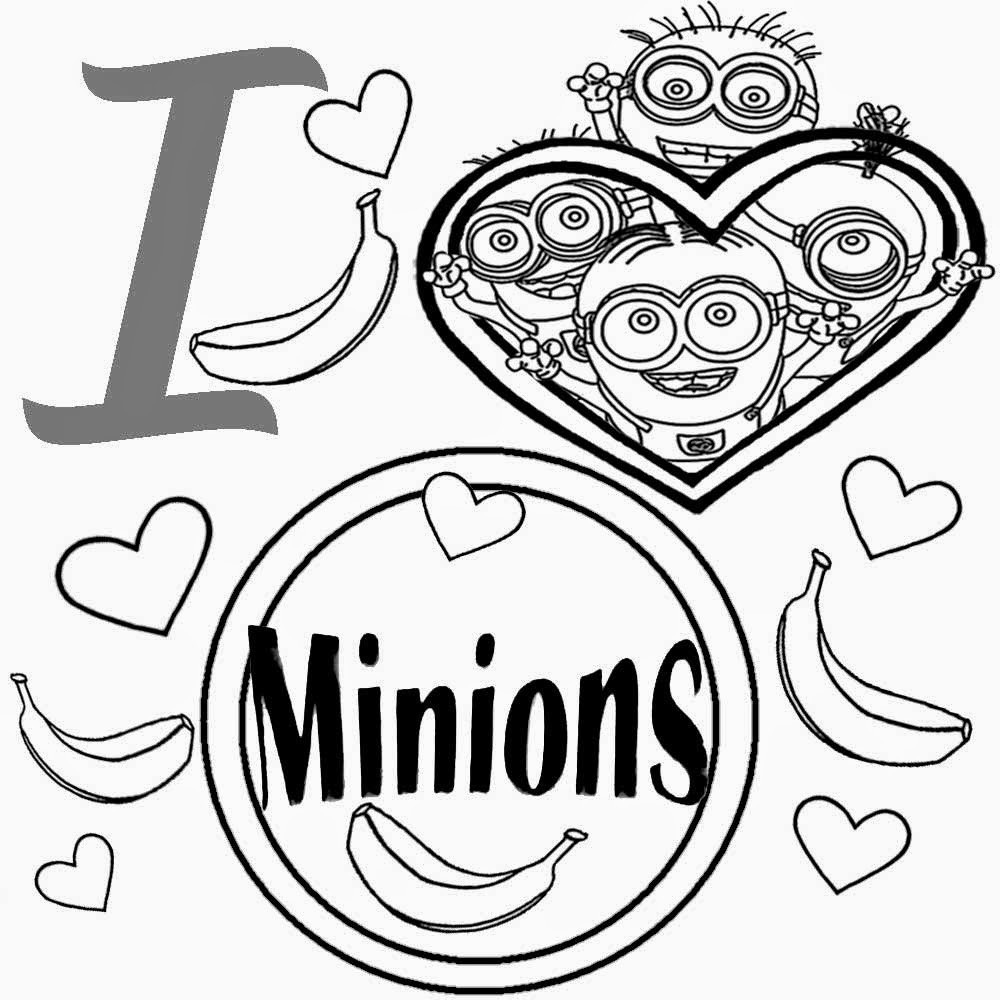 Printable Minions Coloring Pages  Free Coloring Pages Printable To Color Kids