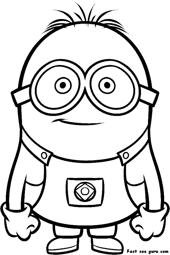 Printable Minions Coloring Pages  Printable Despicable Me Minions Printable Coloring Pages