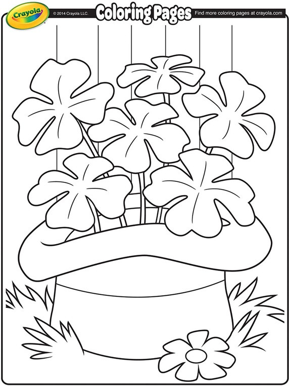 Printable St Patrick Day Coloring Pages  Shamrocks Coloring Page