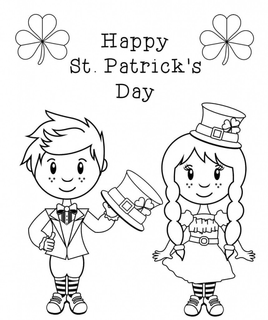 Printable St Patrick Day Coloring Pages  Free Printable St Patrick's Day Coloring Pages
