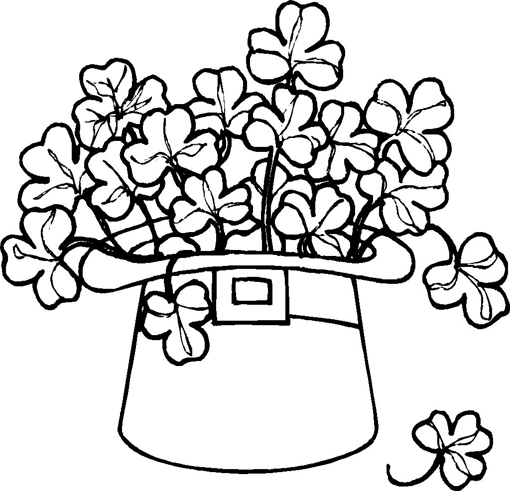 Printable St Patrick Day Coloring Pages  Free Printable Shamrock Coloring Pages For Kids