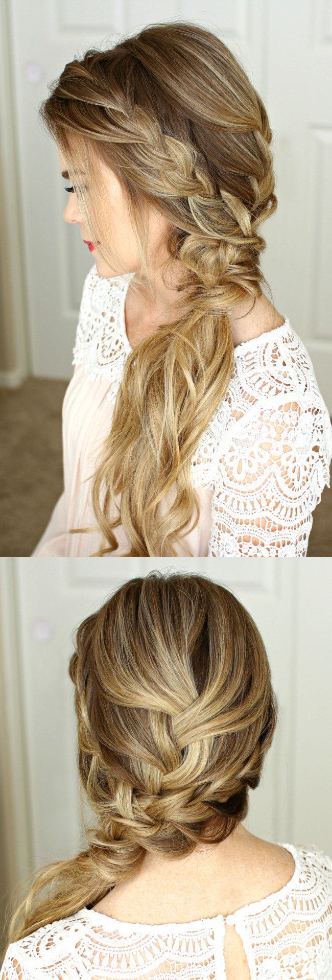 Prom Hairstyle Braid  Braided Side Swept Prom Hairstyle