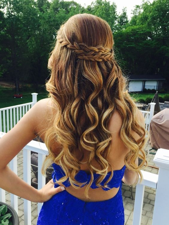 Prom Hairstyle Braid  21 Gorgeous Home ing Hairstyles for All Hair Lengths