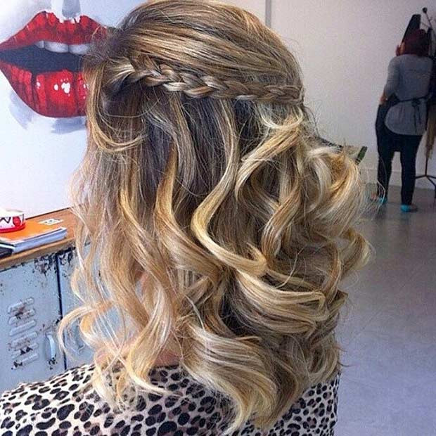 Prom Hairstyle Half Up  31 Half Up Half Down Prom Hairstyles
