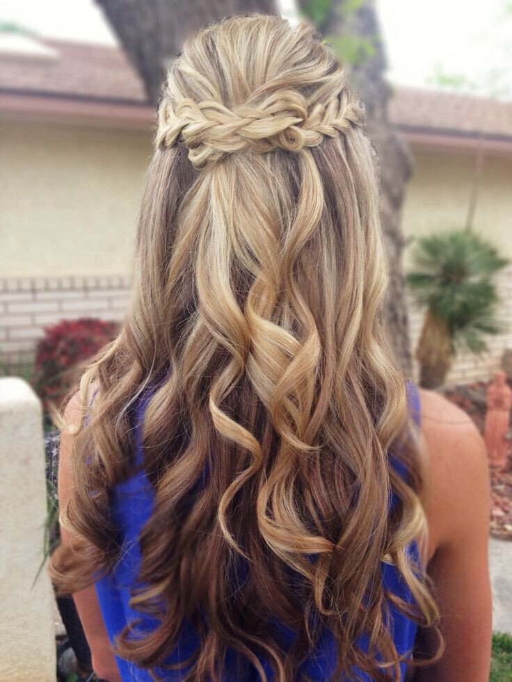 Prom Hairstyle Half Up  15 Latest Half Up Half Down Wedding Hairstyles for Trendy