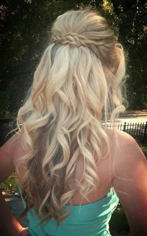 Prom Hairstyle Half Up  2015 Prom Hairstyles – Half Up Half Down Prom