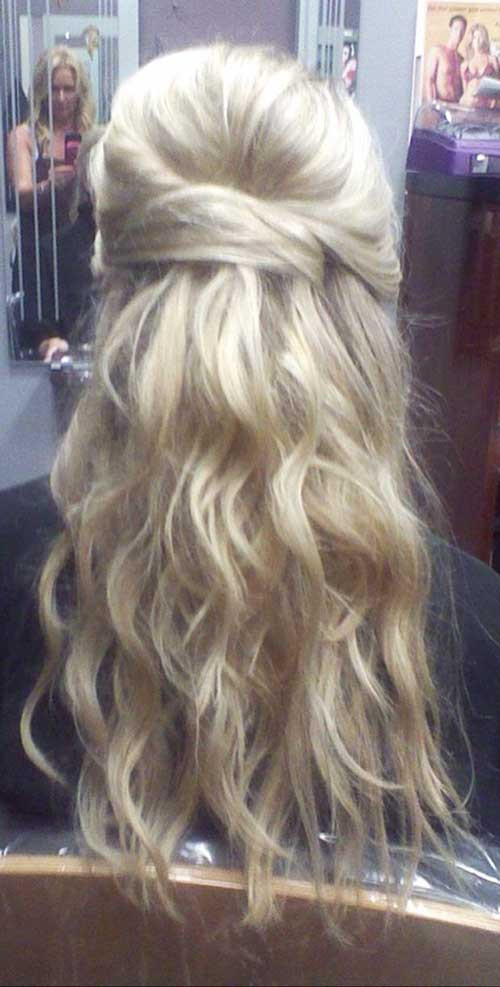 Prom Hairstyle Half Updo  20 Long Hairstyles Updos