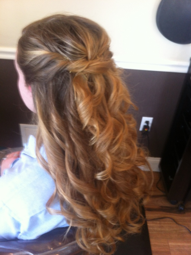 Prom Hairstyle Half Updo  17 Best images about Hair Updos on Pinterest