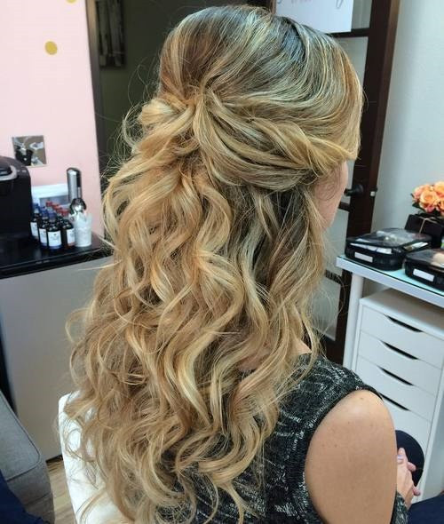 Prom Hairstyle Half Updo  50 Half Up Half Down Hairstyles for Everyday and Party Looks