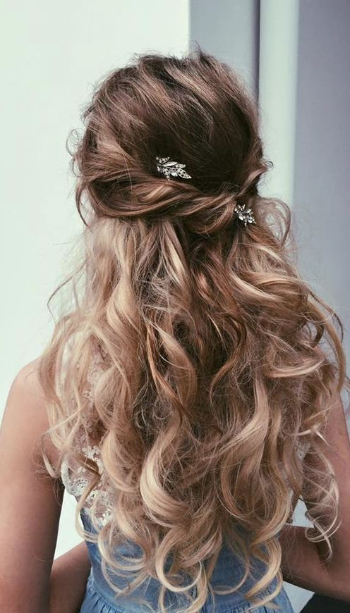 Prom Hairstyle Half Updo  18 Elegant Hairstyles for Prom 2019