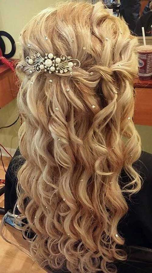 Prom Hairstyle Half Updo  35 Prom Hairstyles for Curly Hair
