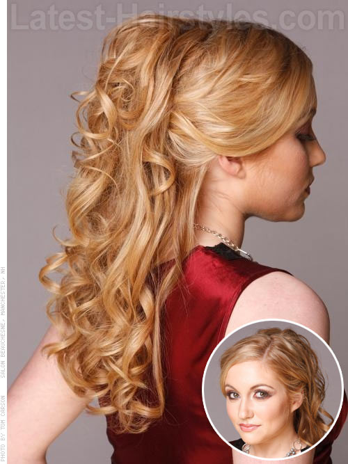 Prom Hairstyle Half Updo  Half Up Half Down Prom Hairstyles and How To s