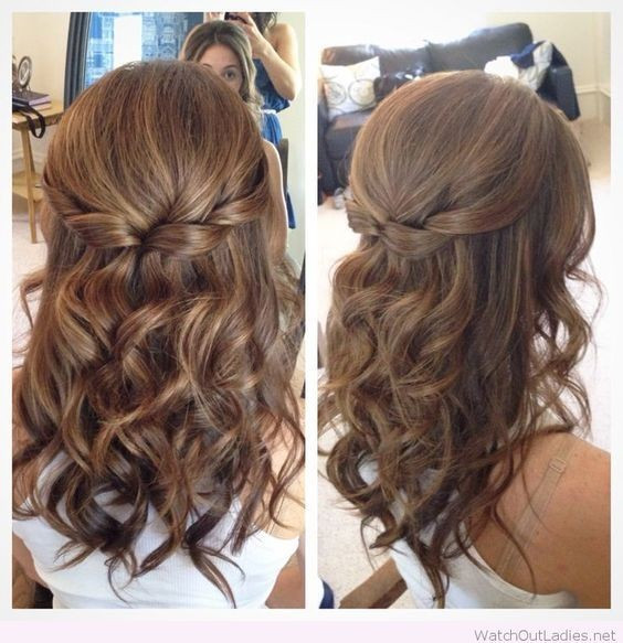 Prom Hairstyles Down Medium Hair  18 Elegant Hairstyles for Prom 2019