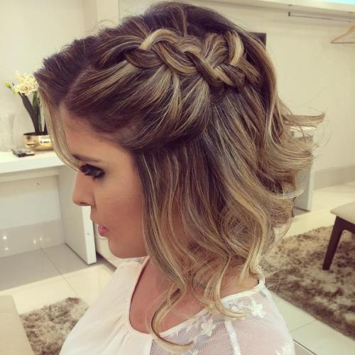 Prom Hairstyles Down Medium Hair  40 Hottest Prom Hairstyles for Short Hair