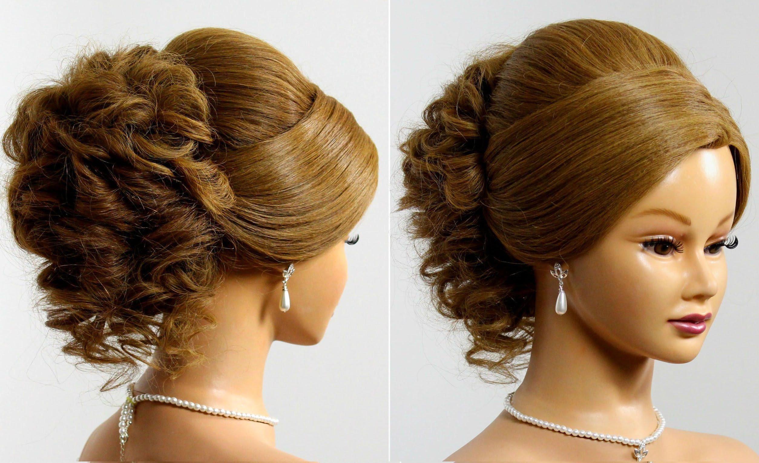 Prom Hairstyles For Medium Hair Up  Prom wedding updo Hairstyle for long medium hair Makeup