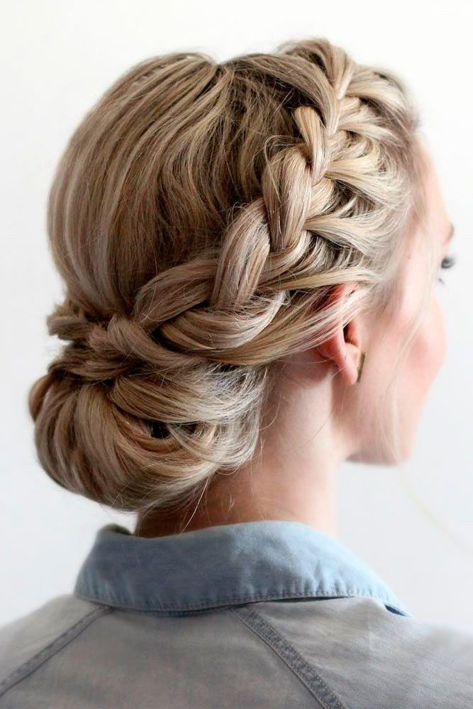 Prom Hairstyles With Braid  Best 25 Braided updo ideas on Pinterest