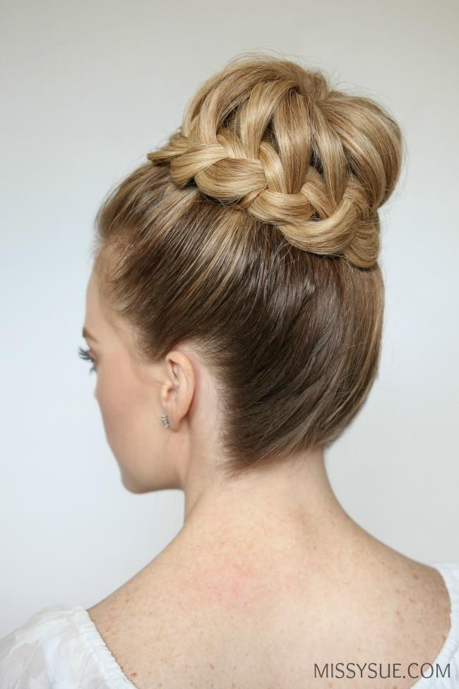 Prom Hairstyles With Braid  French Braid High Bun