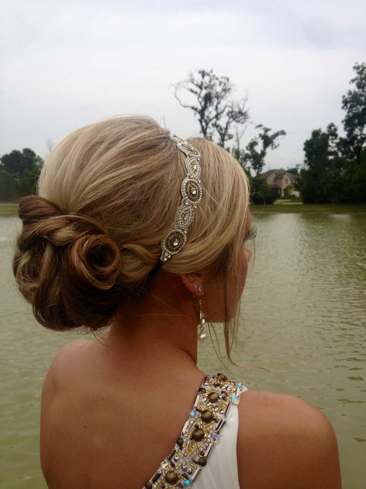 Prom Hairstyles With Headbands  i want a band like this to keep my bangs out of my face