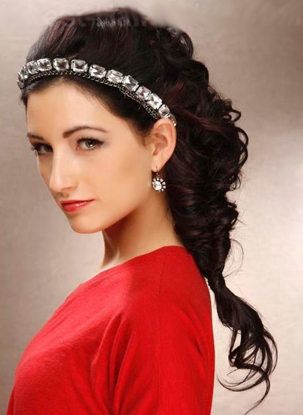 Prom Hairstyles With Headbands  Long Hair With Headband