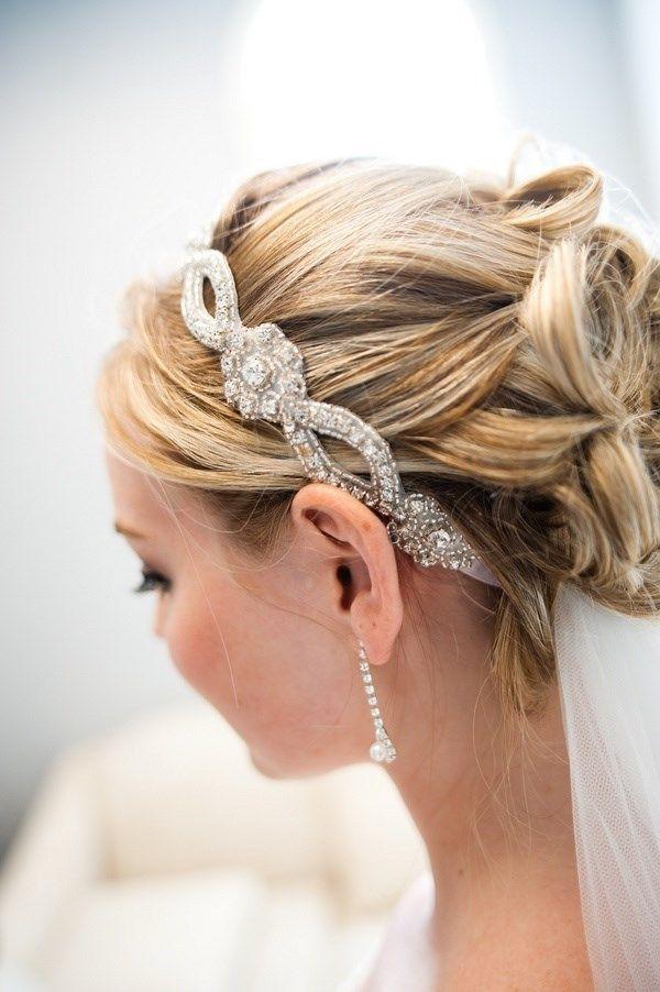 Prom Hairstyles With Headbands  Rhinestone Crystal Beaded Headband Grecian Headpiece