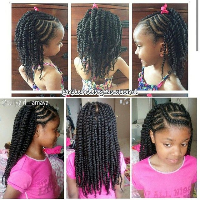 Protective Hairstyles For Kids  curlygirl amaya browngirlshair naturalhairkids