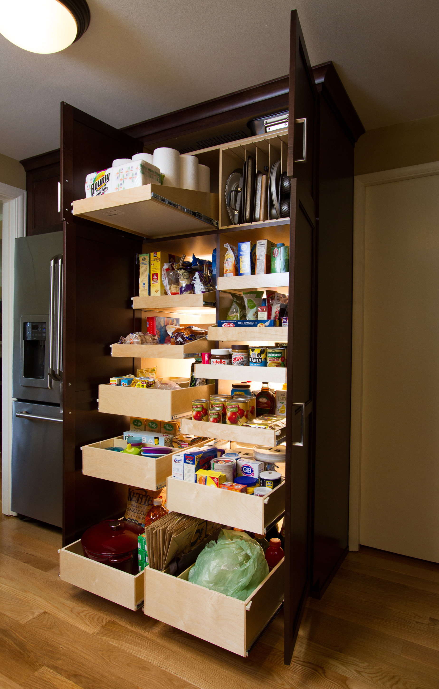 Best ideas about Pull Out Drawers For Pantry . Save or Pin ShelfGenie of Seattle Retrofits Gig Harbor Kitchen Pantry Now.