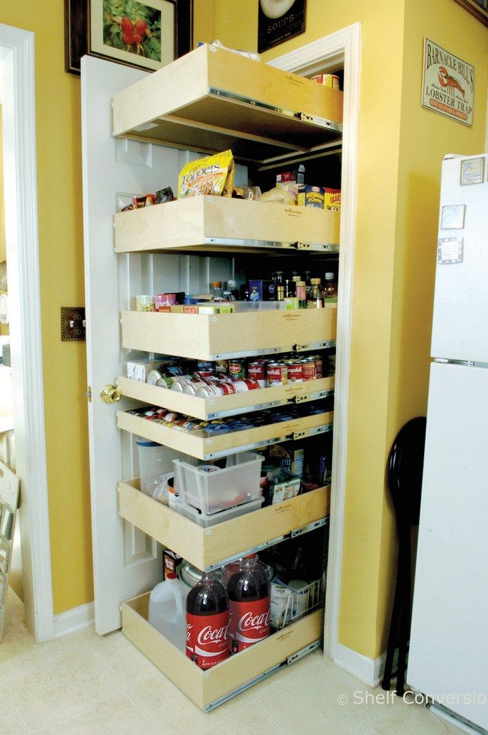 Best ideas about Pull Out Drawers For Pantry . Save or Pin How to build pull out pantry shelves Now.