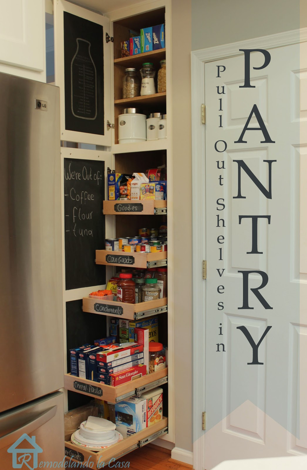 Best ideas about Pull Out Drawers For Pantry . Save or Pin 15 Kitchen Organization Ideas Now.