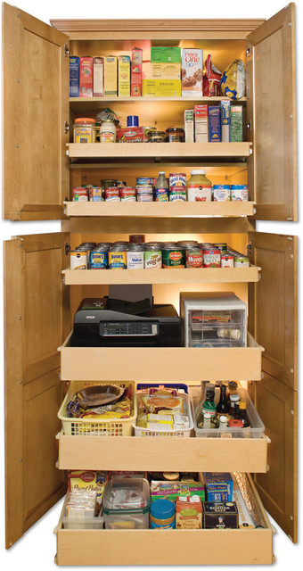 Best ideas about Pull Out Drawers For Pantry . Save or Pin Sliding shelves for kitchen or pull out pantry rolling Now.