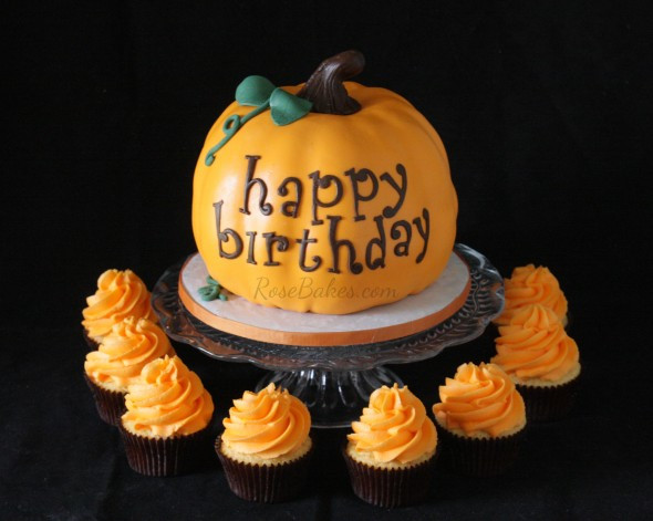 Pumpkin Birthday Cake  Busy Busy Busy Rose Atwater