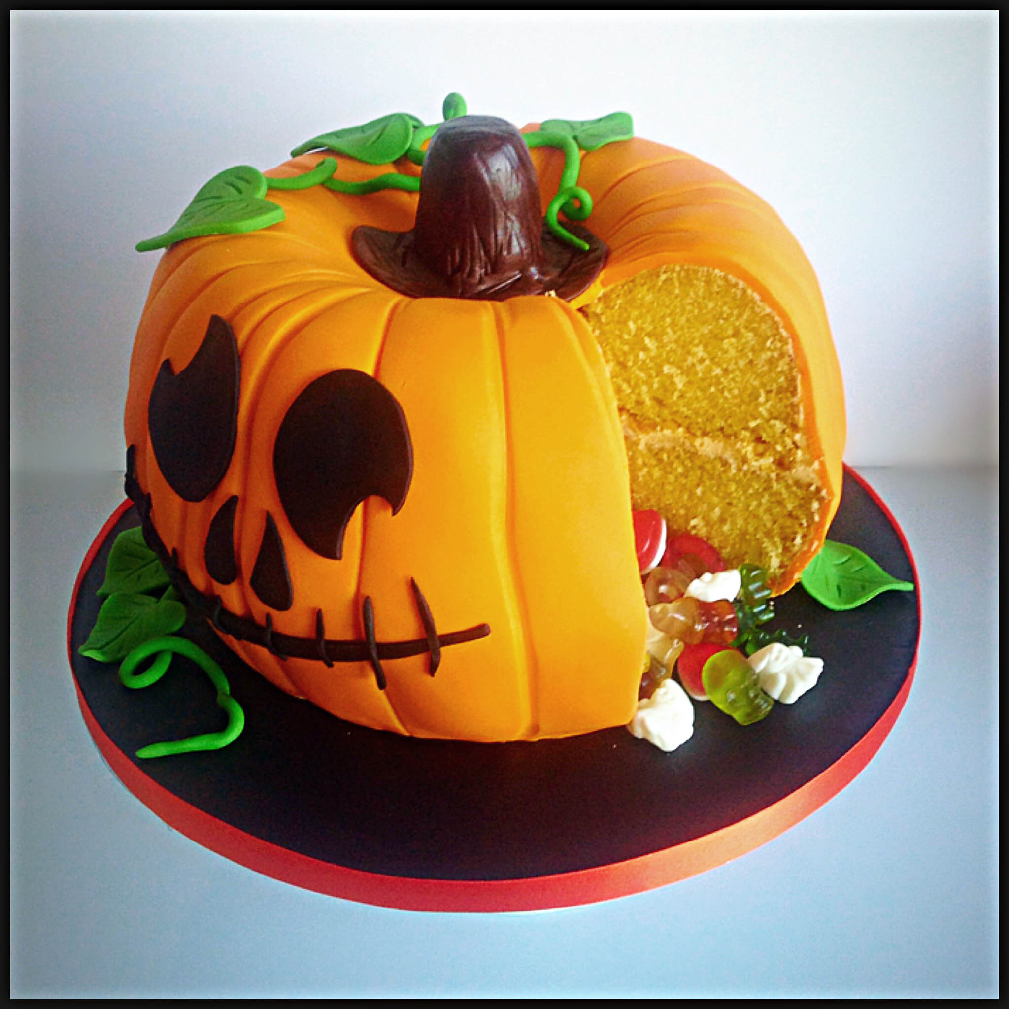 Pumpkin Birthday Cake  How To Make A Party Pumpkin Piñata Cake