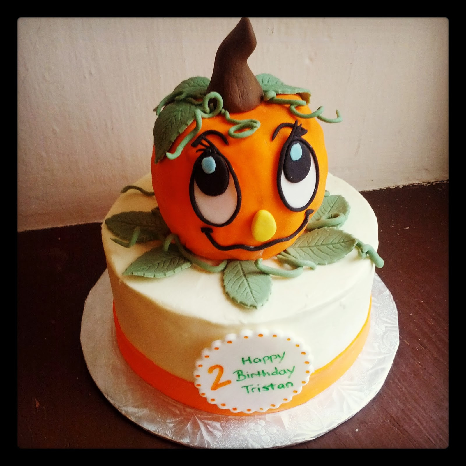 Pumpkin Birthday Cake  Second Generation Cake Design Little Pumpkin Birthday Cake