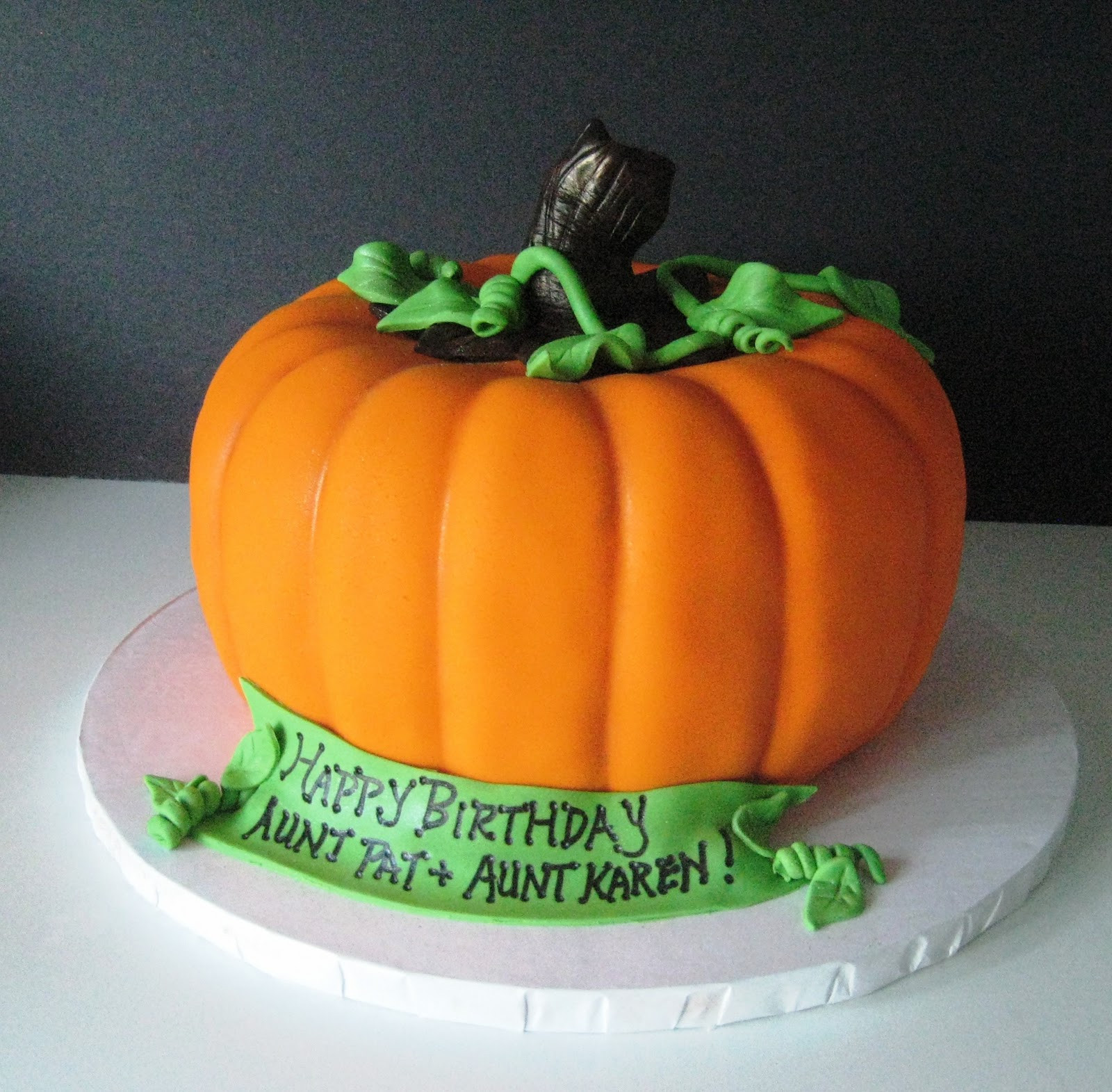Pumpkin Birthday Cake  Heavenly Bites Cakes Pumpkin Picking Halloween Birthday