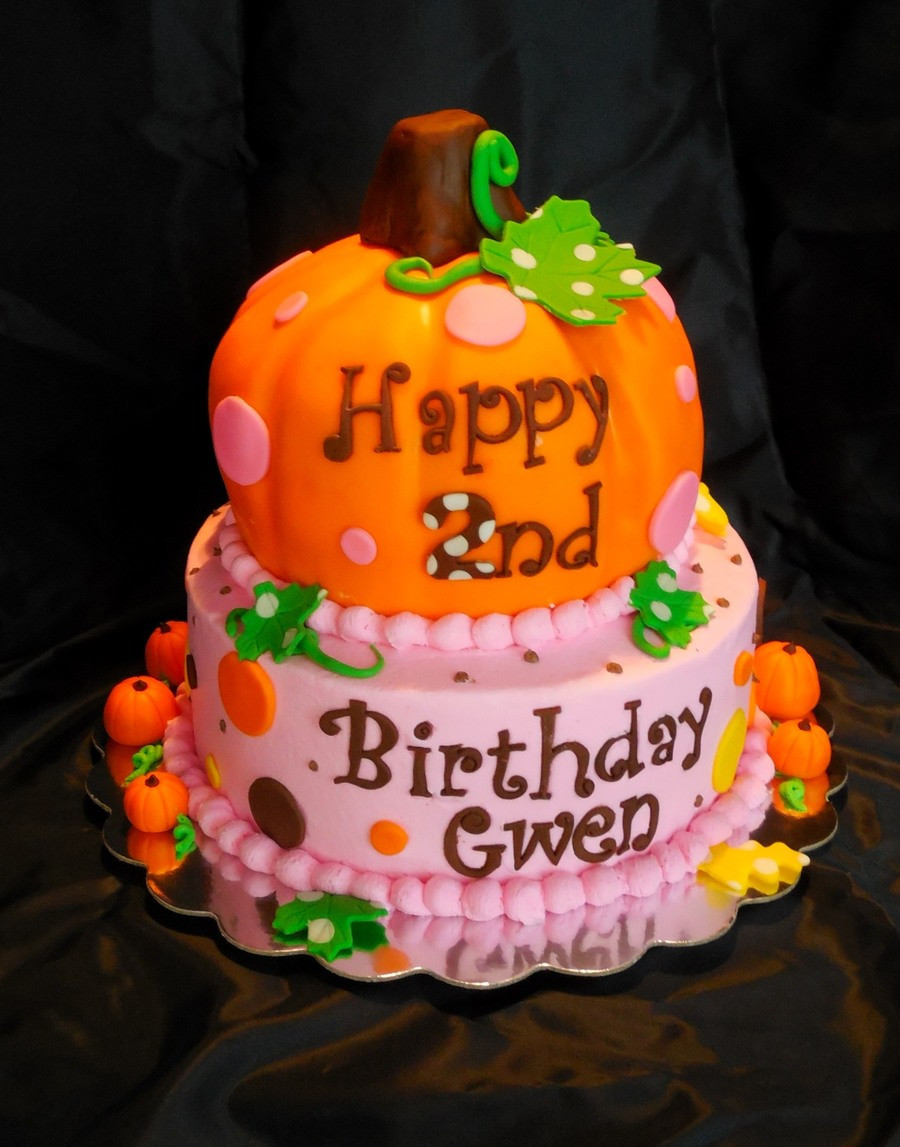 Pumpkin Birthday Cake  Sweet Little Pumpkin Cake CakeCentral