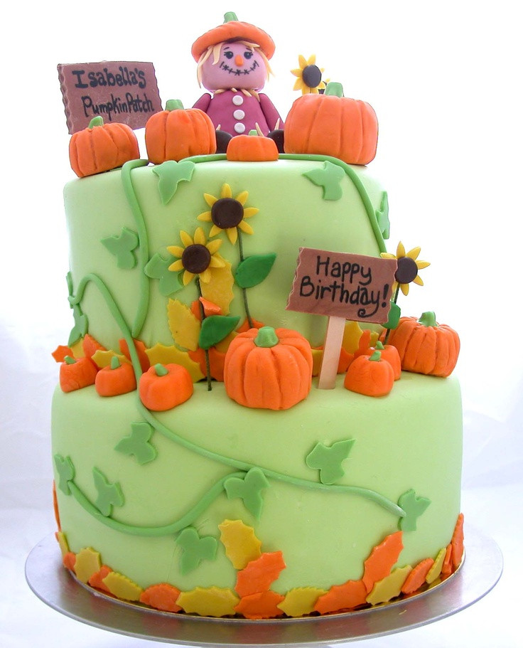 Pumpkin Birthday Cake  Fall Pumpkin Cake Ideas