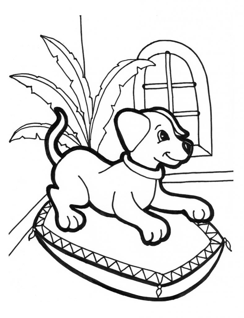 Puppy Coloring Pages For Kids  Free Printable Puppies Coloring Pages For Kids