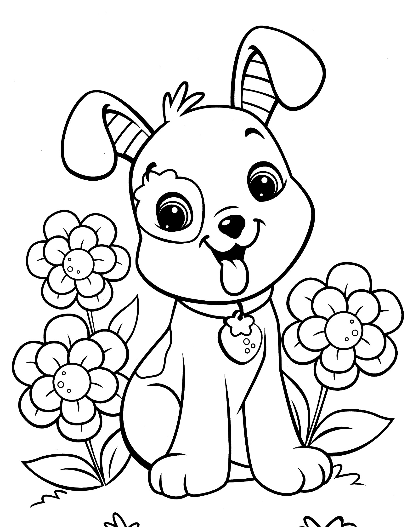 Puppy Coloring Pages For Kids  Puppy Coloring Pages Best Coloring Pages For Kids