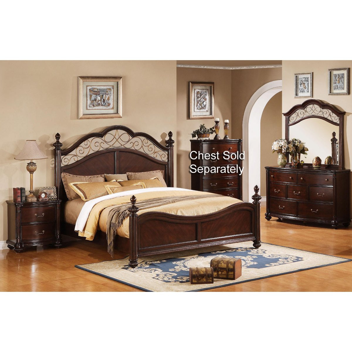 Best ideas about Queen Bedroom Sets . Save or Pin Derbyshire International Furniture 6 Piece Queen Bedroom Set Now.
