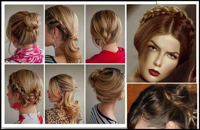 Quick Easy Hairstyles For Medium Hair  Casual updos for short hair