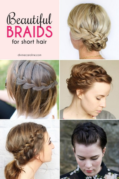 Quick Easy Hairstyles For Medium Hair  Easy braided hairstyles for short hair