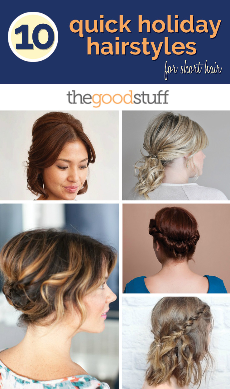 Quick Easy Hairstyles For Medium Hair  Holiday hairstyles for short hair