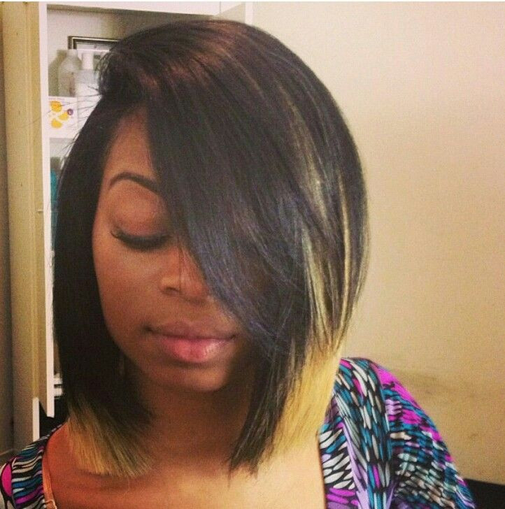 Best ideas about Quick Weave Bob Hairstyles . Save or Pin Long blunt bob quick weave Now.