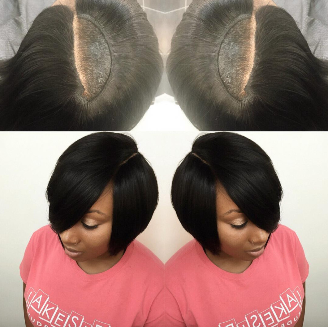 Best ideas about Quick Weave Bob Hairstyles . Save or Pin Nice invisible part quick weave via hairbylatise Black Now.