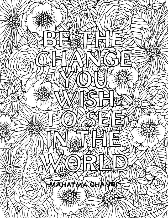 Quote Coloring Pages For Adults  free printable coloring pages for adults quotes