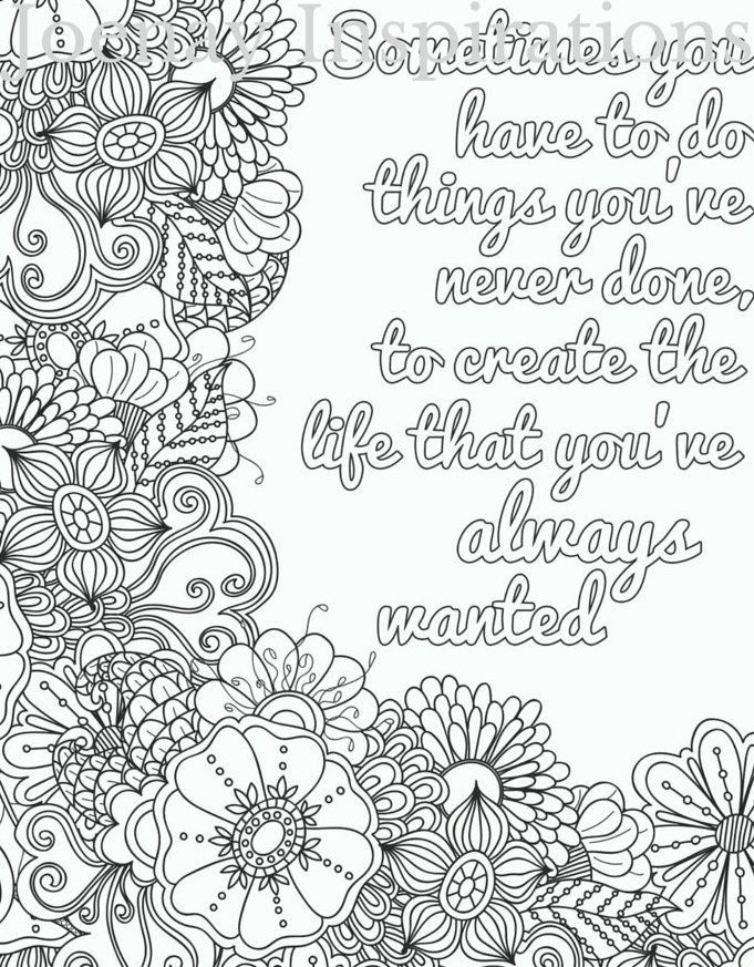 Quote Coloring Pages For Adults  20 Printable Adult Coloring Pages Quotes Selection FREE